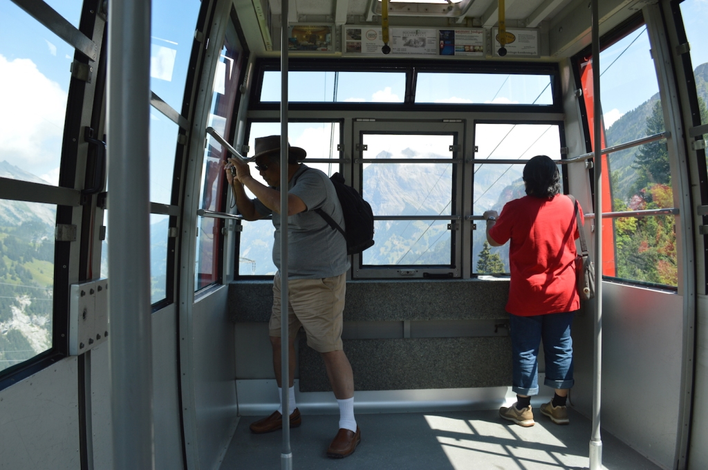My parents being super touristy in the cable car