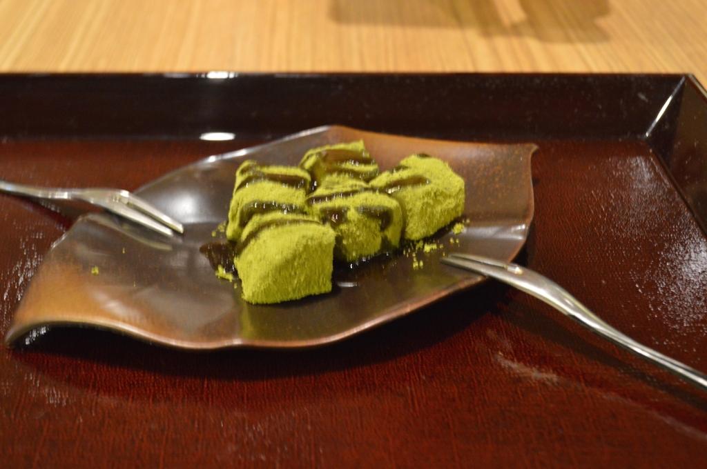 Matcha and Warabi Mochi ($9)