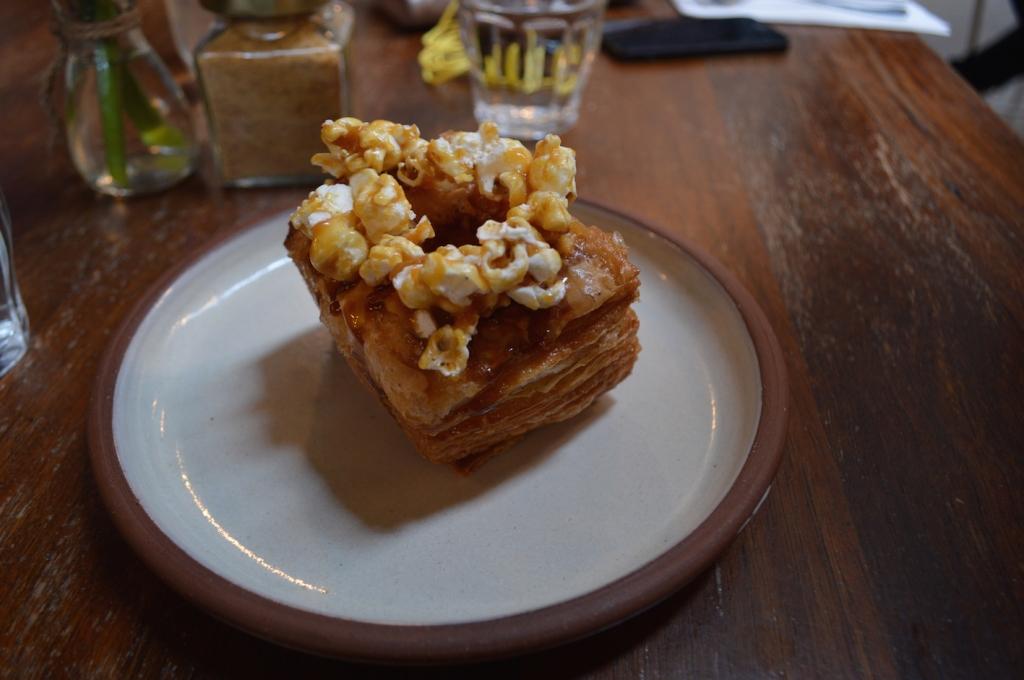 Caramel popcorn cronut