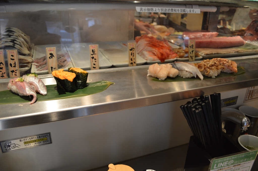 standing sushi bar tokyo shibuya