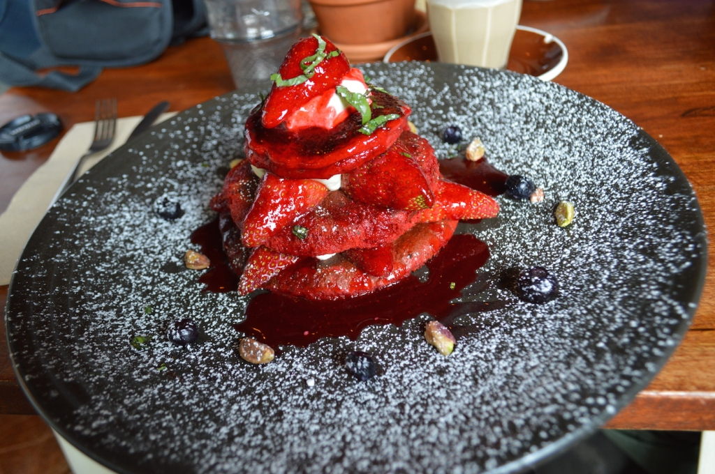Local Mbassy red velvet pancakes
